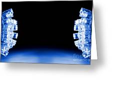 Blue Led Lights Both Sides Of The Image With Space For Text Greeting Card