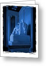 Blue Lincoln Greeting Card
