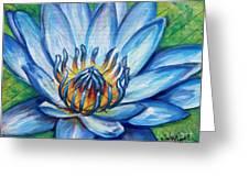 Blue Lotus Greeting Card