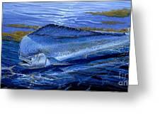 Blue Mahi Off0071 Greeting Card