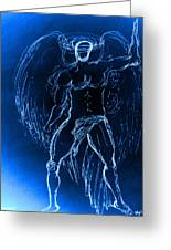Blue Male Angel Greeting Card