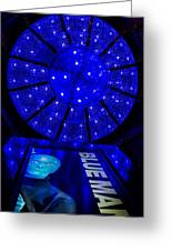 Blue Man Group Chandelier Greeting Card