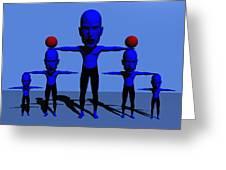 Blue Men Greeting Card