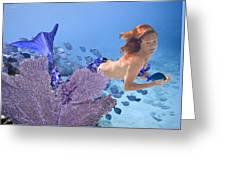 Blue Mermaid Greeting Card