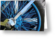 Blue Mg Wire Spoke Rim Greeting Card