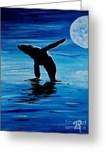 Blue Moon I - Left Side - Acrylic Greeting Card