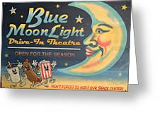 Blue Moon Light Greeting Card by Sherry Dooley