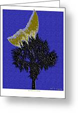 Blue Moon Over Palmetto  Greeting Card