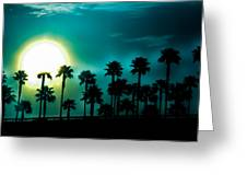 Blue Moon Rising Greeting Card
