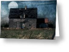 Blue Moon Rising Greeting Card