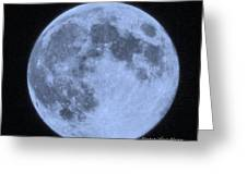 Blue Moon Up Close And Personal Greeting Card