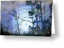Blue Moonlight Greeting Card