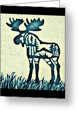 Blue Moose Greeting Card