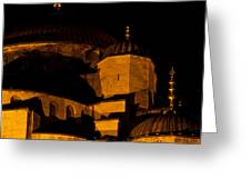 Blue Mosque At Night 02 Greeting Card