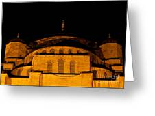 Blue Mosque At Night 03 Greeting Card