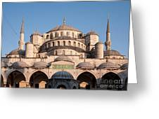 Blue Mosque Domes 01 Greeting Card
