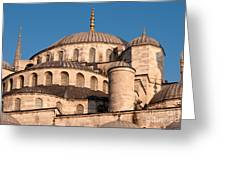 Blue Mosque Domes 05 Greeting Card