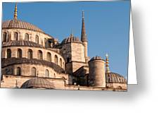 Blue Mosque Domes 08 Greeting Card