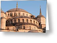 Blue Mosque Domes 09 Greeting Card