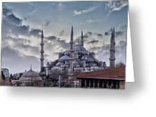 Blue Mosque In Istanbul Greeting Card