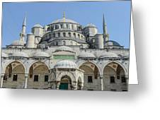 Blue Mosque In Istanbul Turkey Greeting Card