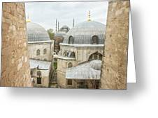 Blue Mosque View From Hagia Sophia Greeting Card