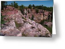 Blue Mounds Quarry Greeting Card by James Peterson