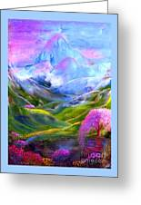 Blue Mountain Pool Greeting Card by Jane Small