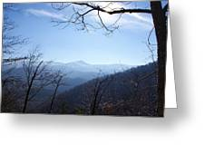 Blue Mountain Sky Greeting Card