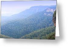 Blue Mountains Panorama Greeting Card