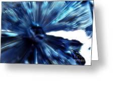 Blue Mushroom Greeting Card