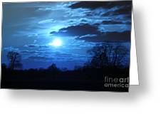 Blue Night Light Greeting Card