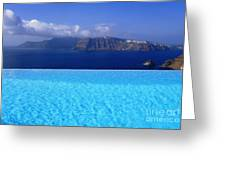 Blue On Blue Greeting Card by Aiolos Greek Collections
