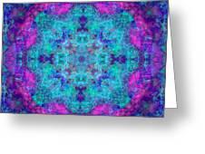 Blue Opal Rainbow Mandala Greeting Card