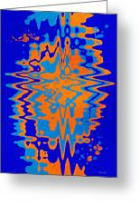 Blue Orange Abstract Greeting Card
