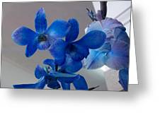 Blue Orchids At All Greeting Card