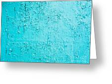 Blue Paint Background Grungy Cracked And Chipping Greeting Card