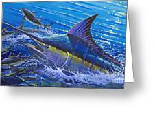 Blue Persuader  Greeting Card
