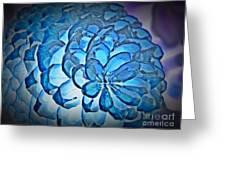 Blue Pine Cone 2 Greeting Card