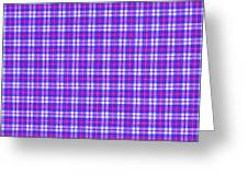 Blue Pink And White Plaid Cloth Background Greeting Card
