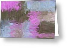 Blue Pink Brown Abstract Greeting Card