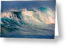 Blue Power. Indian Ocean Greeting Card