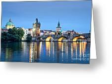 Blue Prague Greeting Card