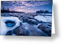 Blue Rapids Greeting Card by Davorin Mance