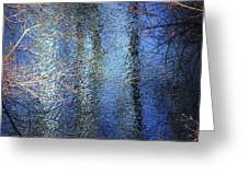 Blue Reflections Of The Patapsco River Greeting Card