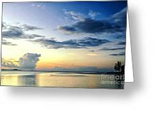 Blue Relax Greeting Card