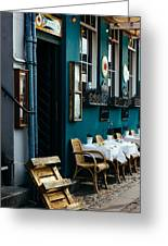 Blue Restaurant Greeting Card