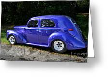Blue Restored Willy Car Greeting Card