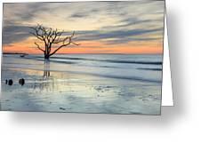 Blue Reverence Charleston Sc Ocean Sunrise Greeting Card