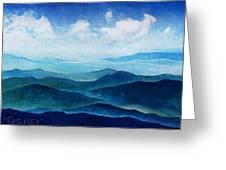 Blue Ridge Blue Skyline Sheep Cloud Greeting Card